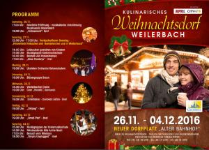 Programm Weihnachtsdorf Weilerbach