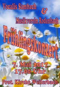 Plakat Frühlingskonzert 17